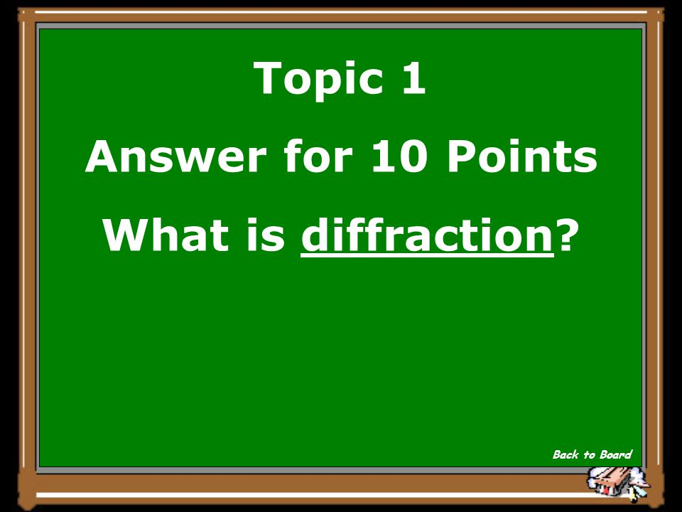 Topic 1 Question for 10 Points Sound waves diffract, or bend around corners. Show Answer