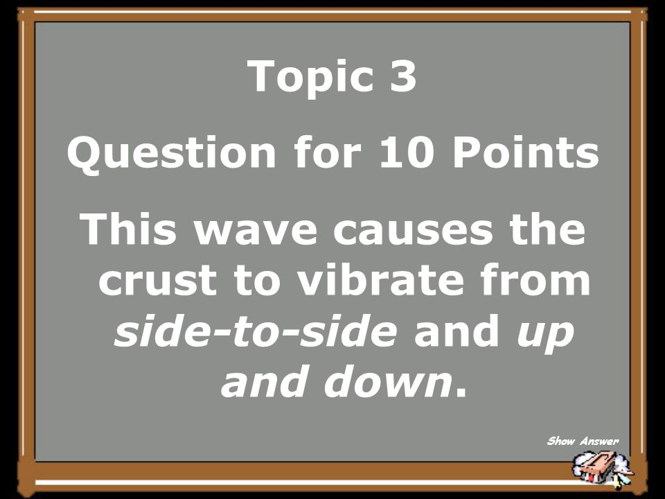 What is a P-Wave? (or Primary Wave) Topic 3 Answer for 5 Points Back to Board