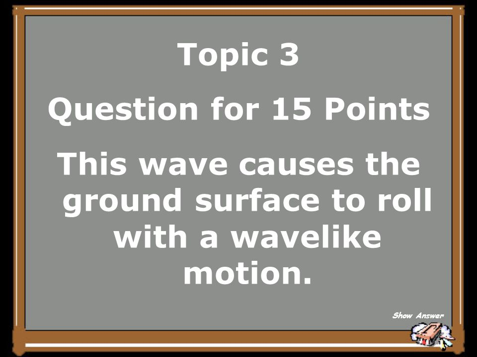 Topic 3 Answer for 10 Points What is an S-Wave (or Secondary waves) Back to Board