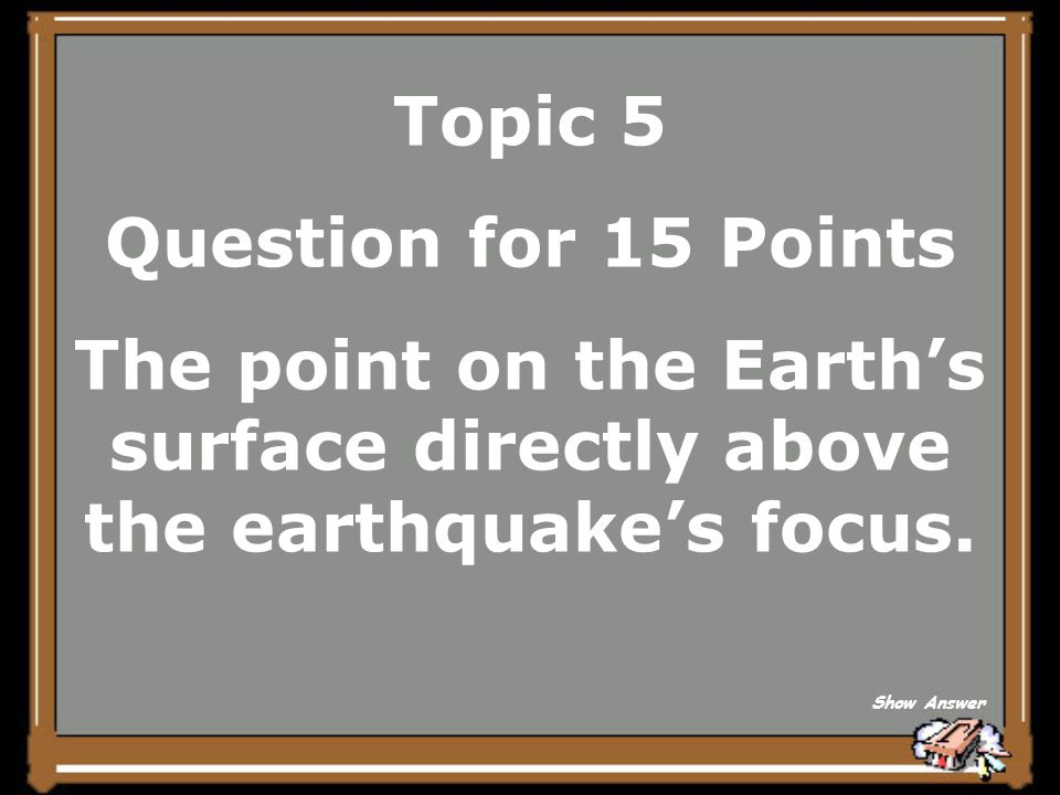 Topic 5 Answer for 10 Points What is a focus Back to Board
