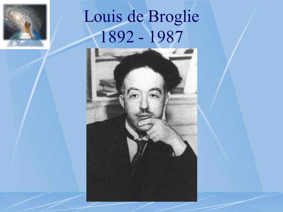 Louis de Broglie 1892 - 1987