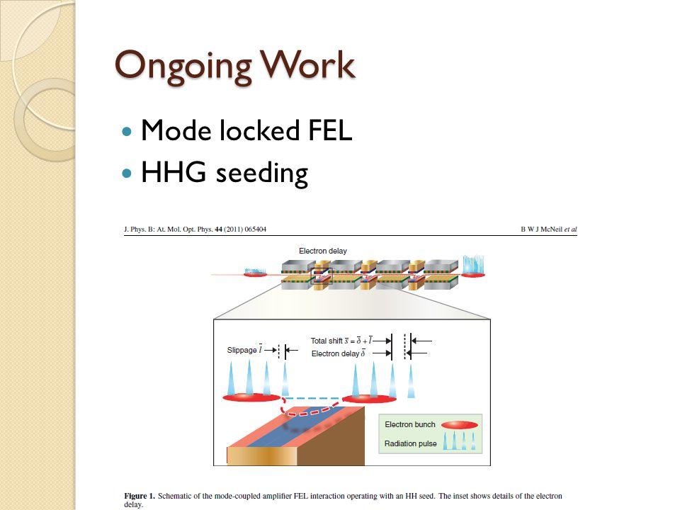 Mode locked FEL HHG seeding