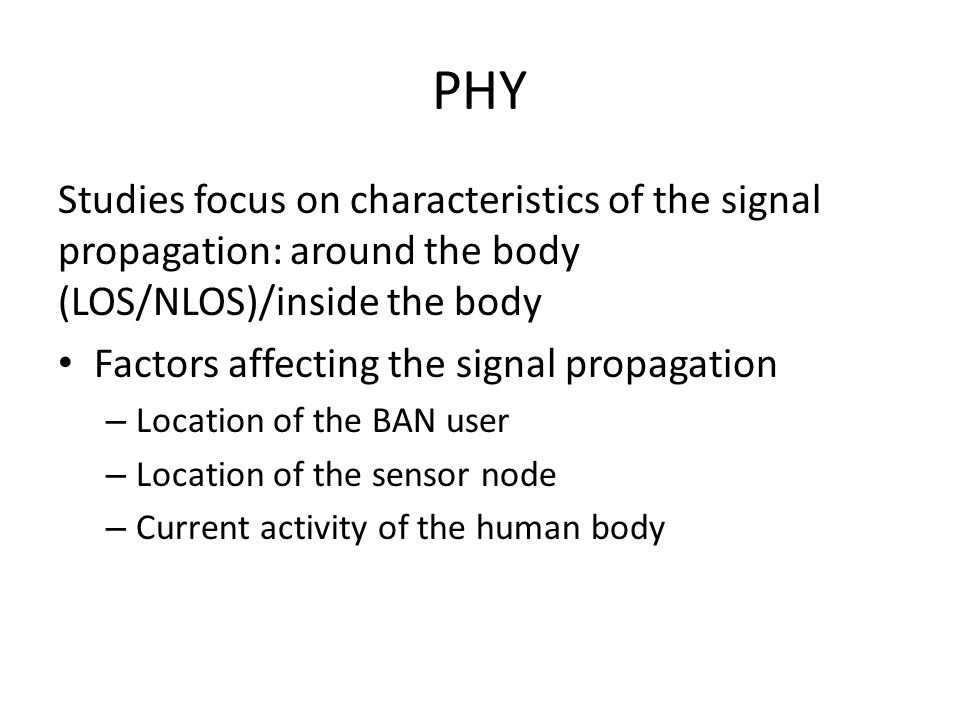 PHY Measurement – Radio signals are generated in the network analyzer, input in the body through the TX, received in the RX and evaluated in the network analyzer.