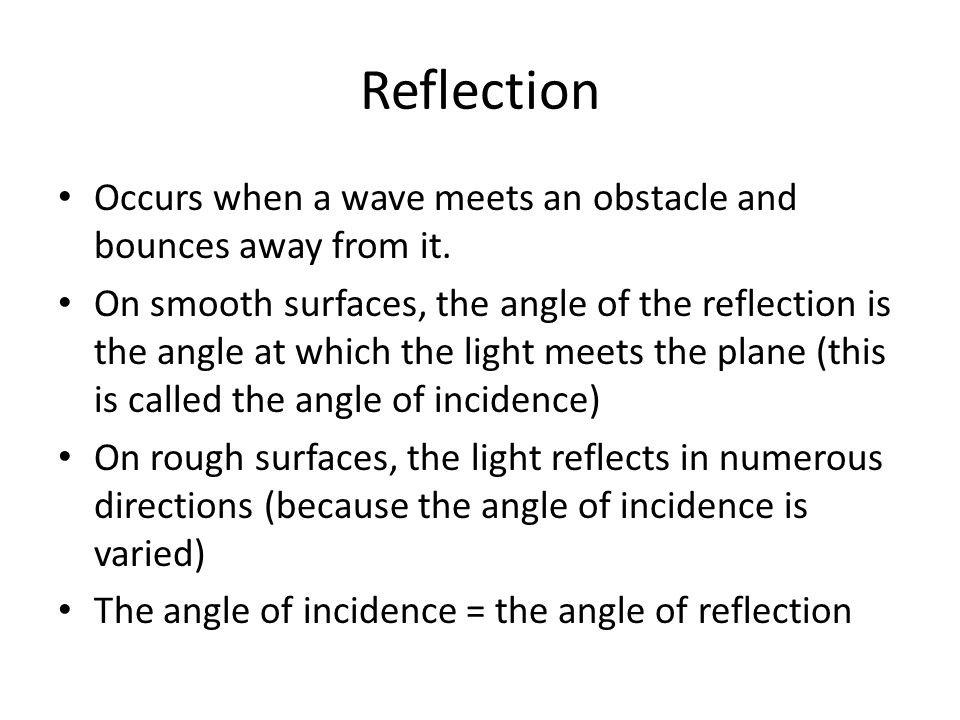 Refraction Occurs when waves move from one density of medium to another This distorts the waves The refraction of sunlight through atmosphere is an example of this; atmospheric refraction causes light from stars and the sun to curve