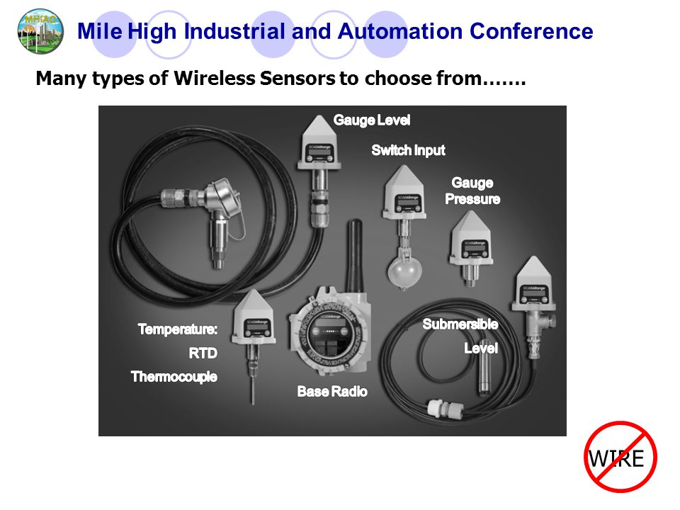 Mile High Industrial and Automation Conference WIRE Many types of Wireless Sensors to choose from…….