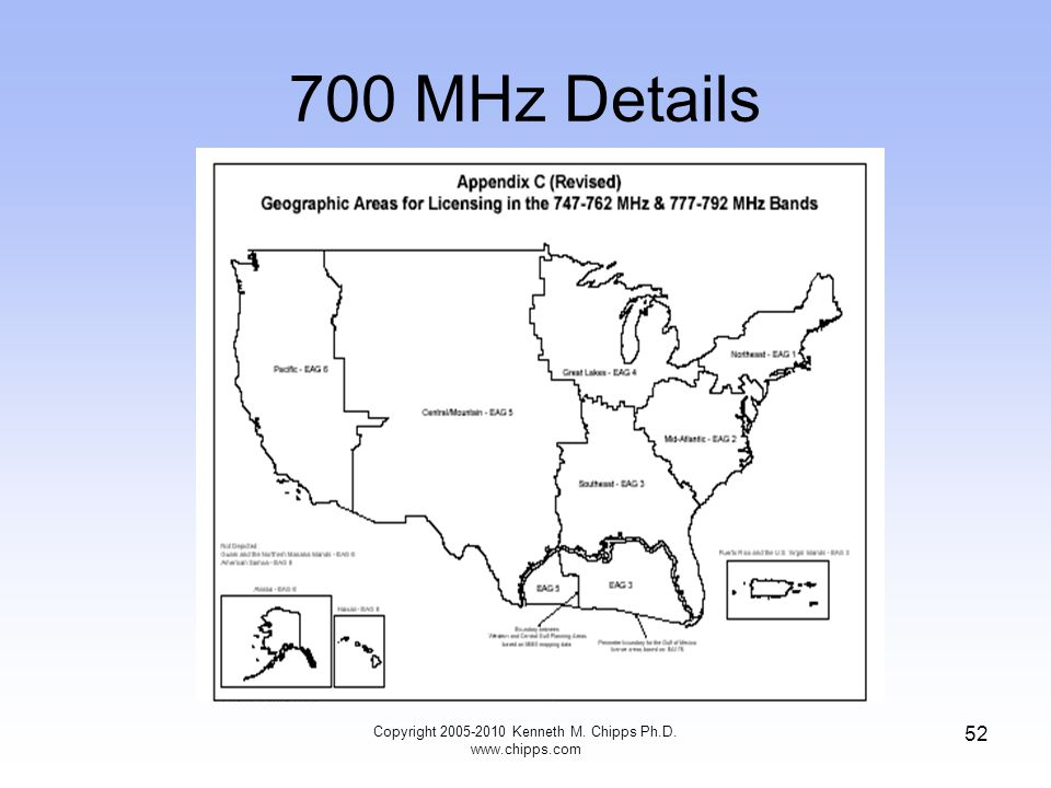 700 MHz Details Copyright 2005-2010 Kenneth M. Chipps Ph.D. www.chipps.com 52