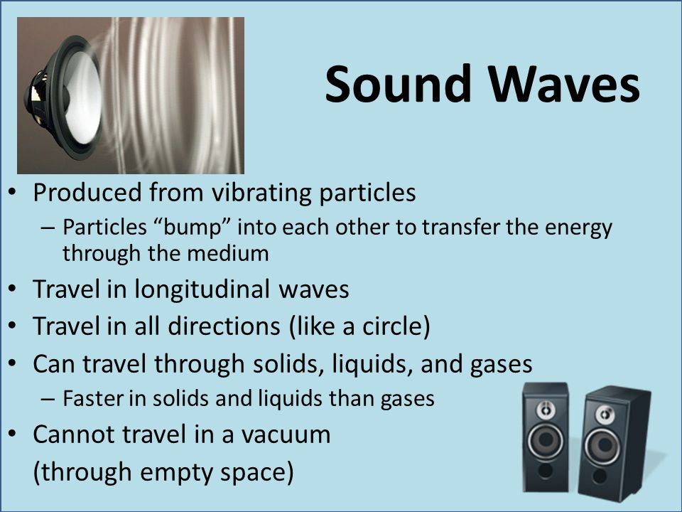 More about Light Sunlight contains ultraviolet and infrared – UV will burn you, IR warms you X-rays and gamma rays are high frequency light waves used in medicine Microwaves are used in cooking and communication (mobile phones) Radio waves are used in communication and radar – Radar: Radio Detection And Ranging – Uses reflected radio waves to determine velocity and location