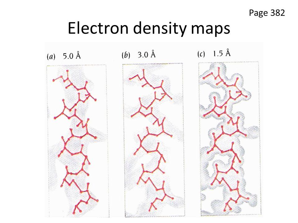 Electron density maps Page 382