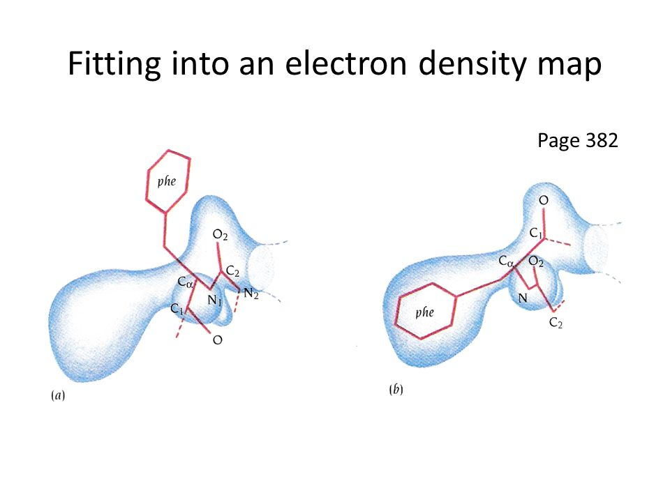 Fitting into an electron density map Page 382