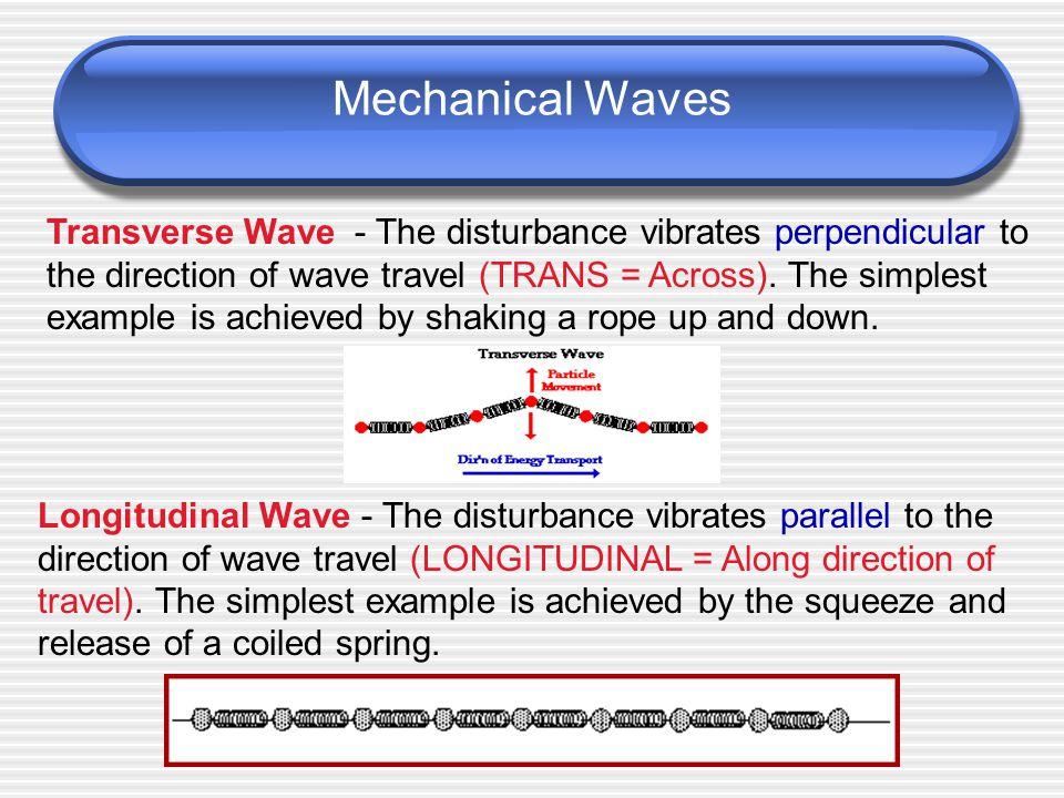 What is a Wave. A wave is a rhythmic disturbance that carries energy through matter or space.
