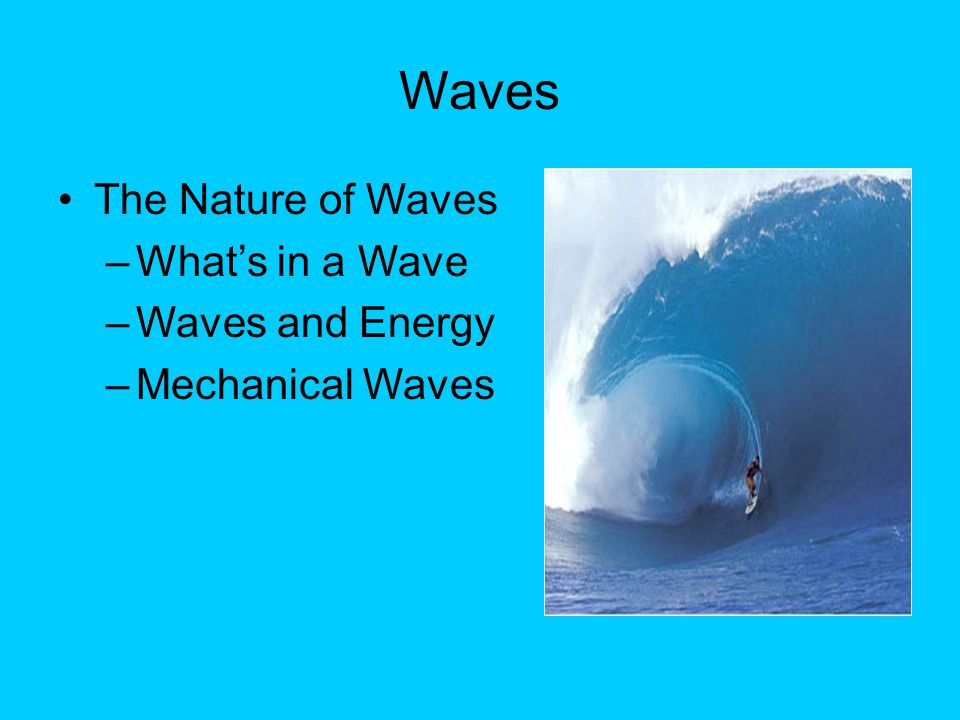 Refraction When a wave passes from one medium to another  such as when a light wave passes from air to water  it changes speed.