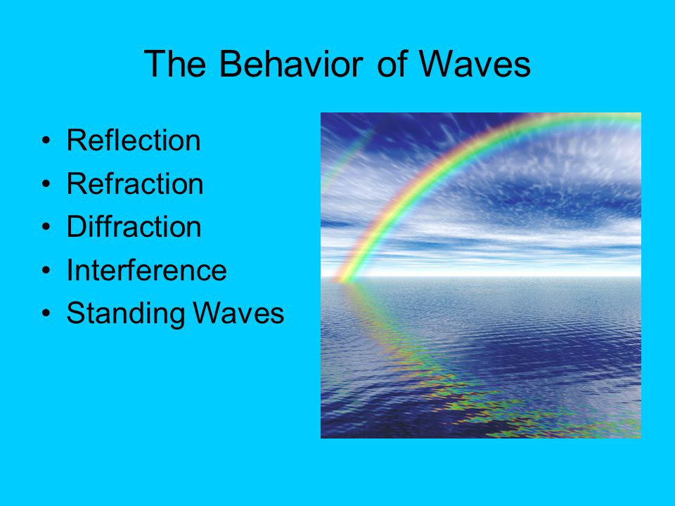 The Behavior of Waves Reflection Refraction Diffraction Interference Standing Waves