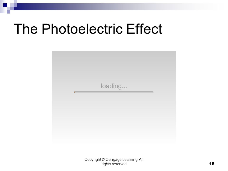 Copyright © Cengage Learning. All rights reserved15 The Photoelectric Effect