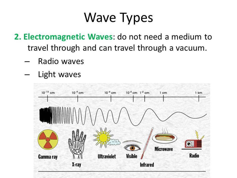 Types of Wave Motion Longitudinal Wave: a wave in which the motion of the vibration is parallel to the direction of wave travel.