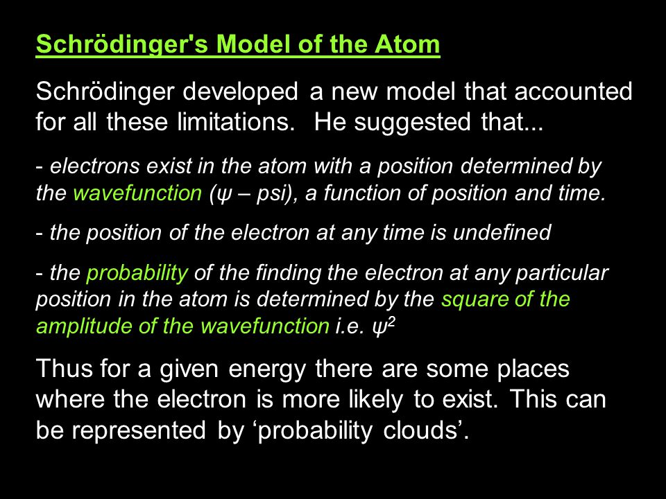Limitations of the Bohr Model of the Atom The Bohr model of the atom worked well with basic ideas of quantum theory (as we have seen). However it has