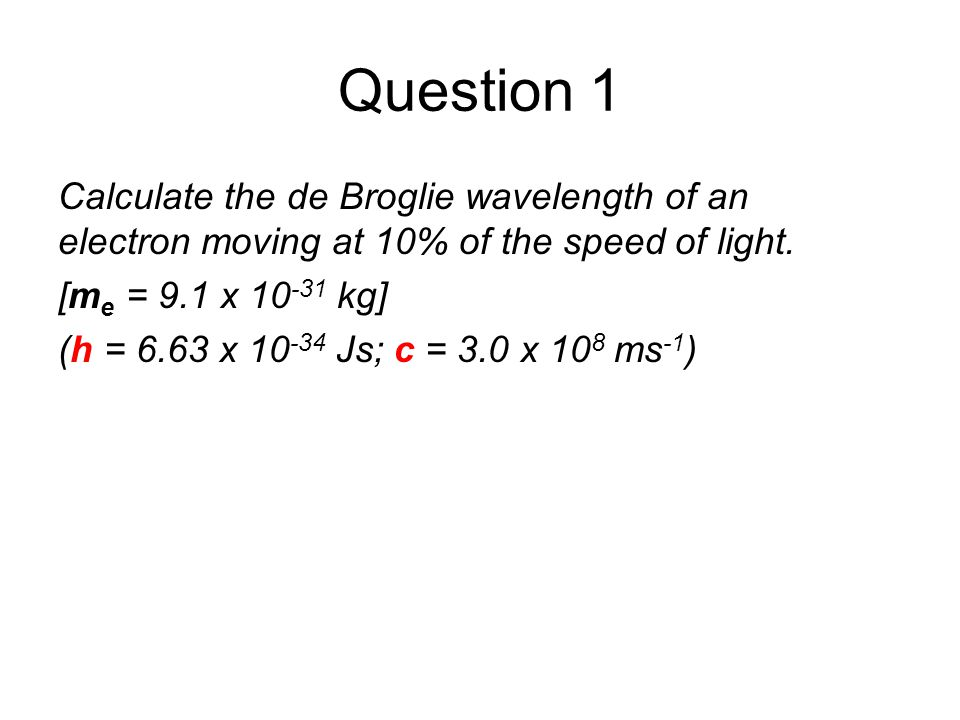 Matter waves In 1923 de Broglie proposed that particles such as electrons, protons and atoms also displayed wave like properties. The de Broglie wavel