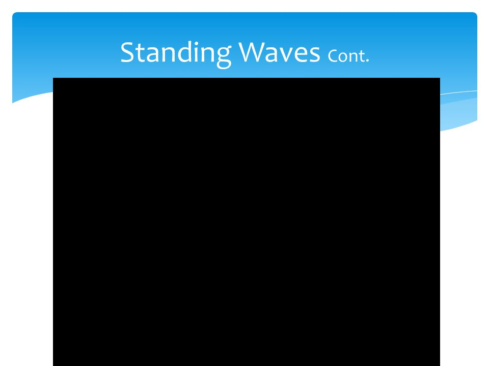  Standing waves have nodes and antinodes.  Each loop of a standing wave is separated from the next loop by points that have no vibration, called nod