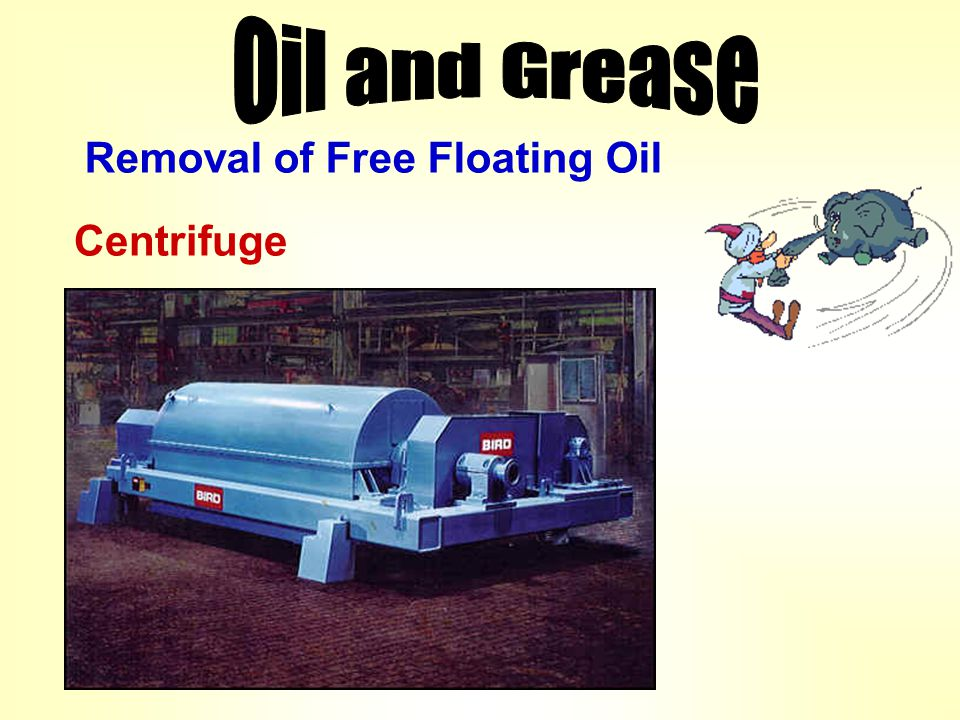 Removal of Free Floating Oil Centrifuge