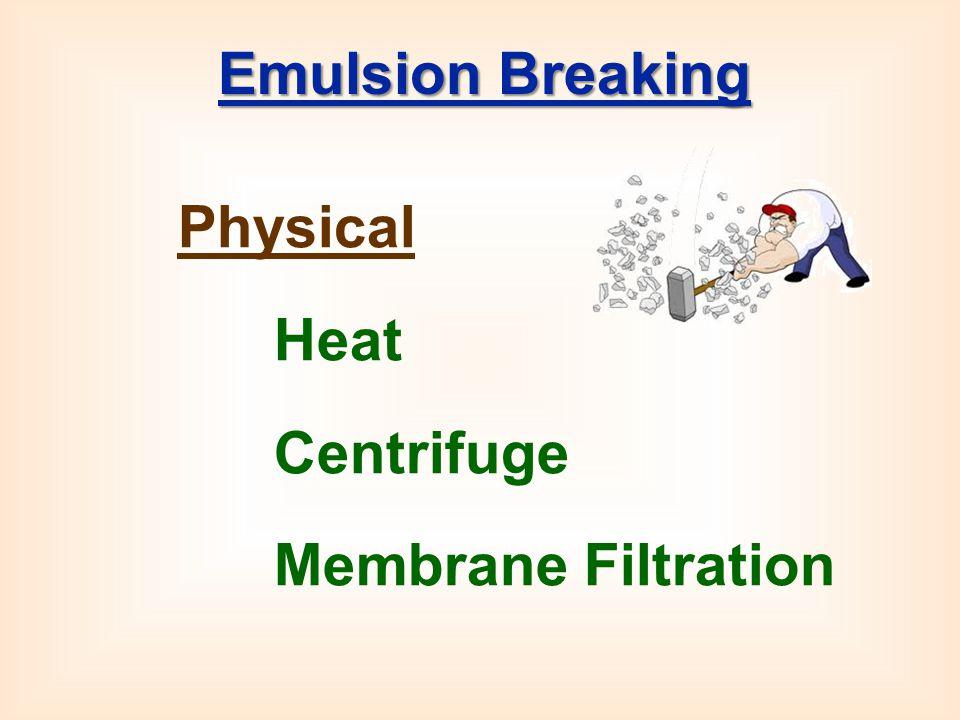 Physical Heat Centrifuge Membrane Filtration Emulsion Breaking