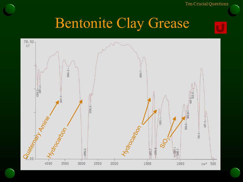 Ten Crucial Questions Bentonite Clay Grease Quaternary Amine Hydrocarbon SiO 2