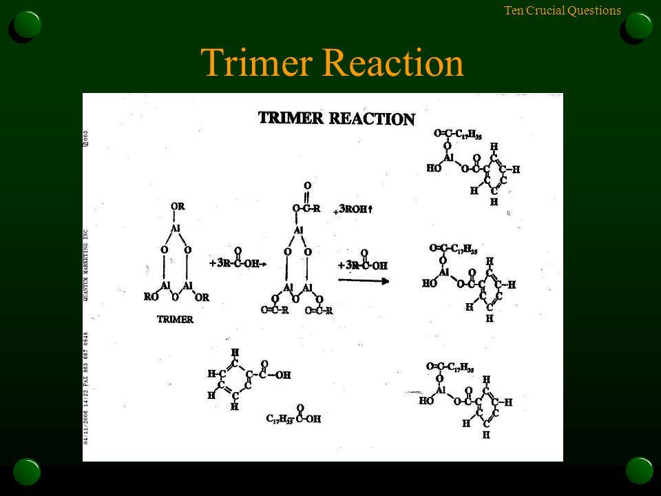 Ten Crucial Questions Trimer Reaction