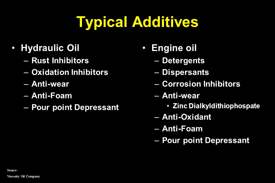Diesel Engine Oil Service Categories