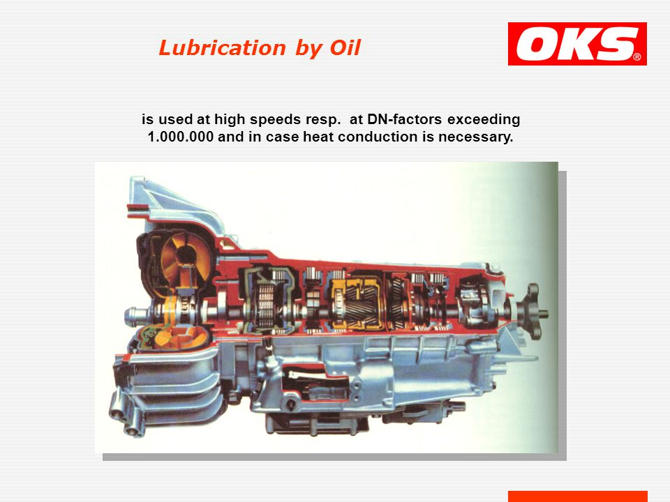 Lubrication by Oil is used at high speeds resp.