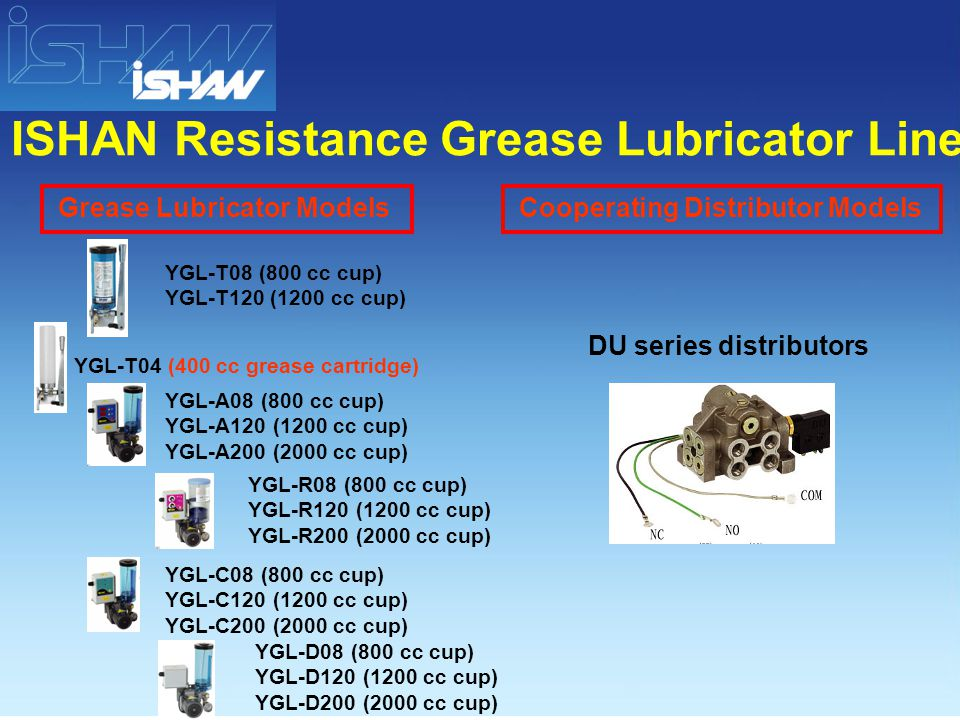 / YGL-T08/ T120 YGL-T04 / YGL-A08/ A120/ A200 Resistance Grease Lubricator Piping Diagram Example / C YGL-C08/ C120/ C200 / R YGL-R08/ R120/ R200 / D YGL-D08/ D120/ D200