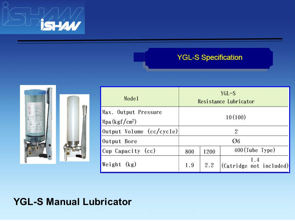 YGL-T Manual Lubricator YGL-T Specification