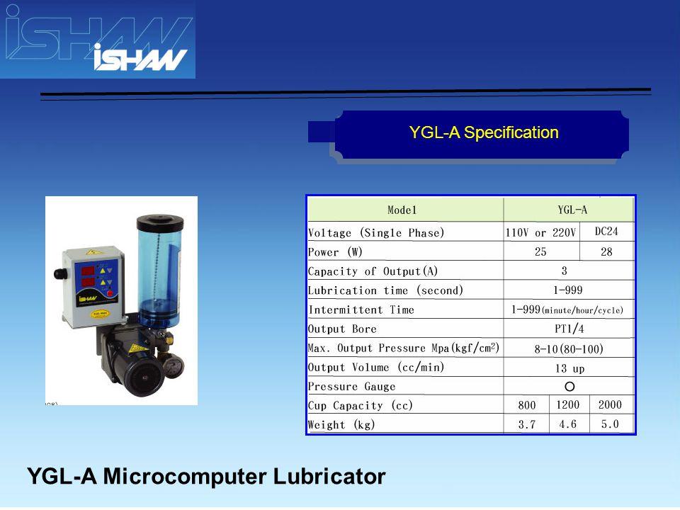 YGL-R Microcomputer Lubricator YGL-R Specification
