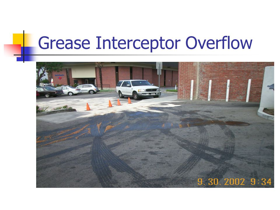 Grease Interceptor Overflow