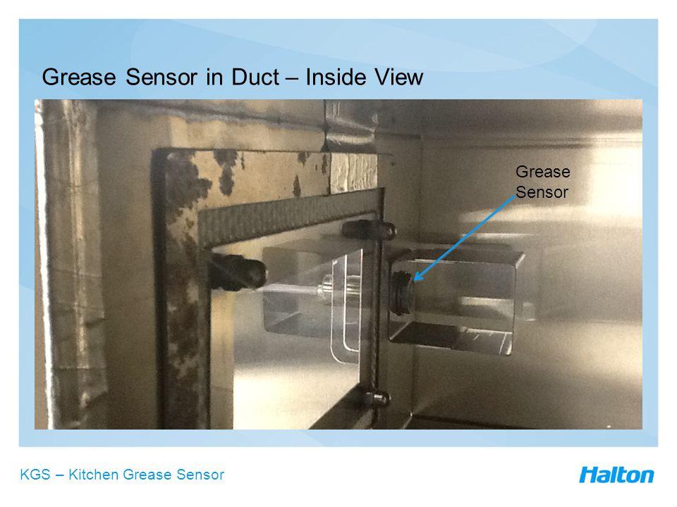 Grease Sensor in Duct – Inside View Grease Sensor KGS – Kitchen Grease Sensor