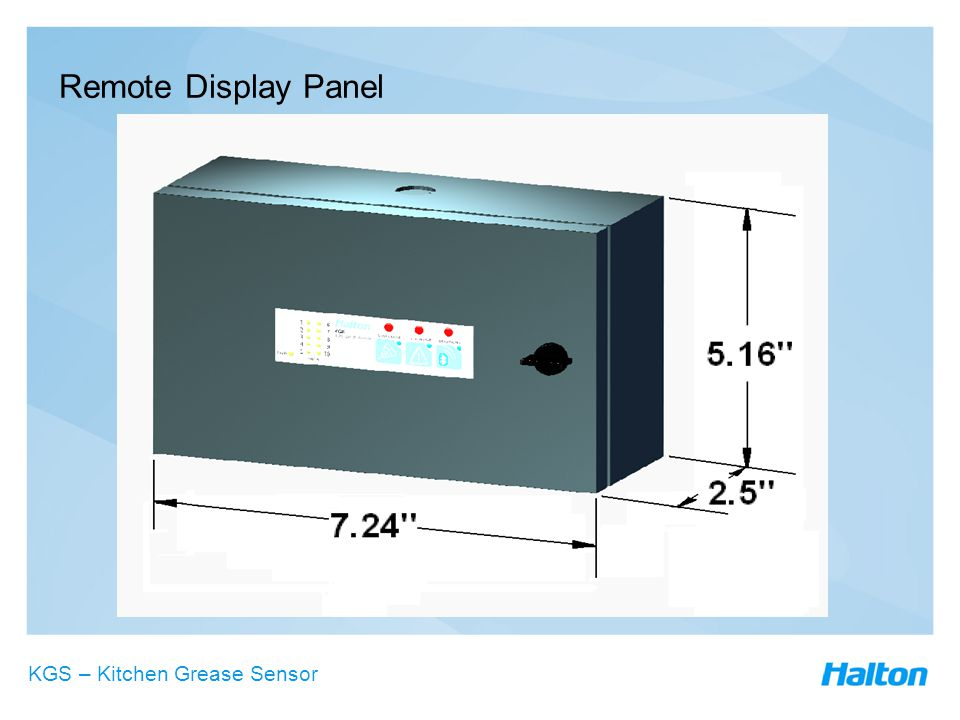 Remote Display Panel KGS – Kitchen Grease Sensor