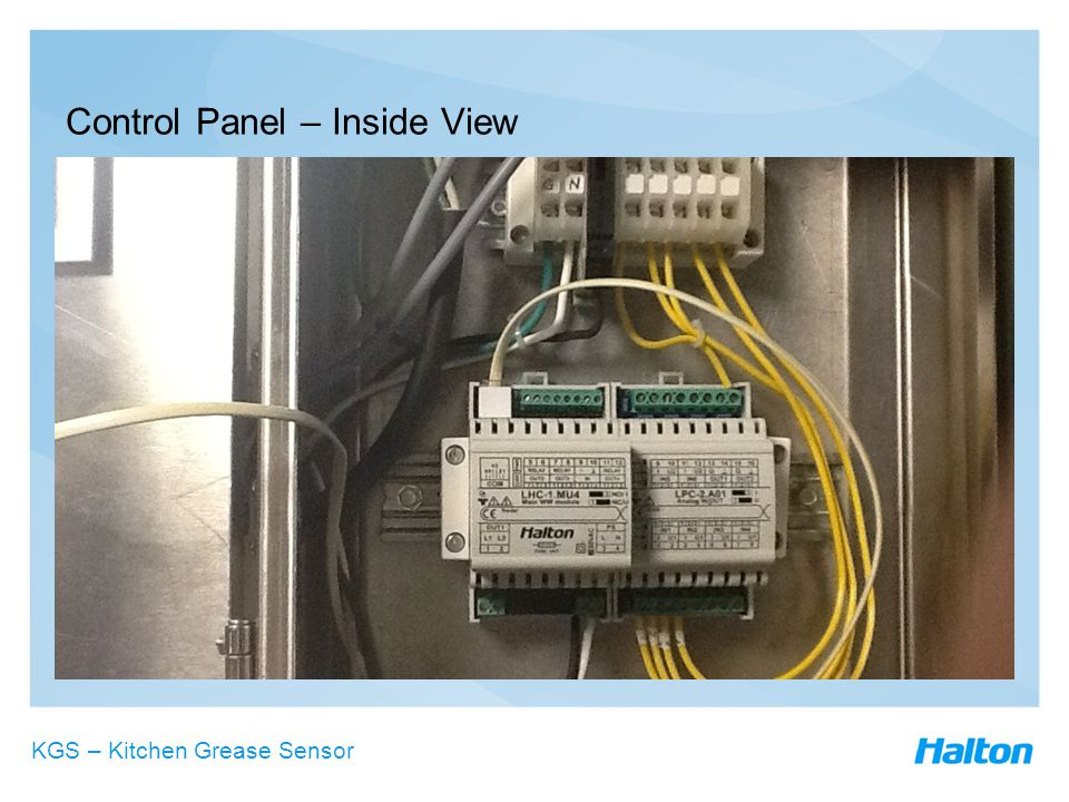 Control Panel – Inside View KGS – Kitchen Grease Sensor