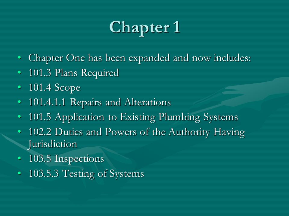 Chapter 6 Water Supply and Distribution Chapter 6 is adopted as written.Chapter 6 is adopted as written.