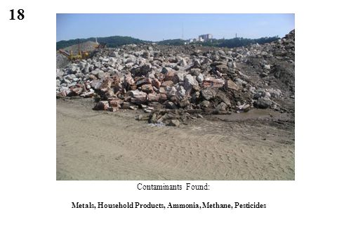 18 Contaminants Found: Metals, Household Products, Ammonia, Methane, Pesticides