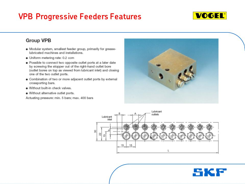VPB Progressive Feeders Features