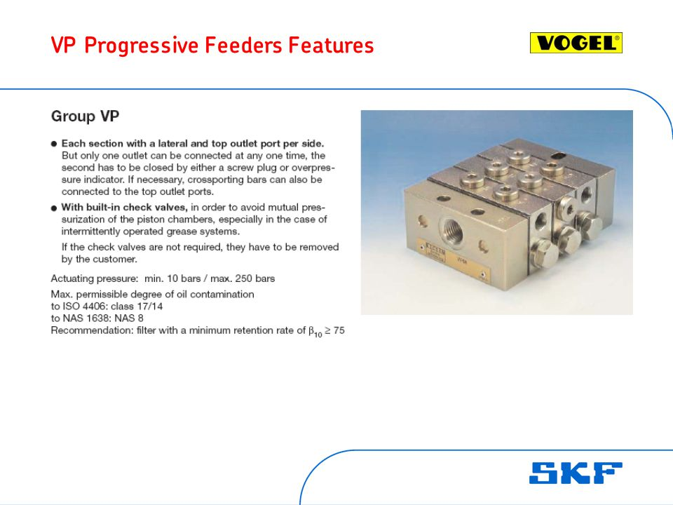 VP Progressive Feeders Features