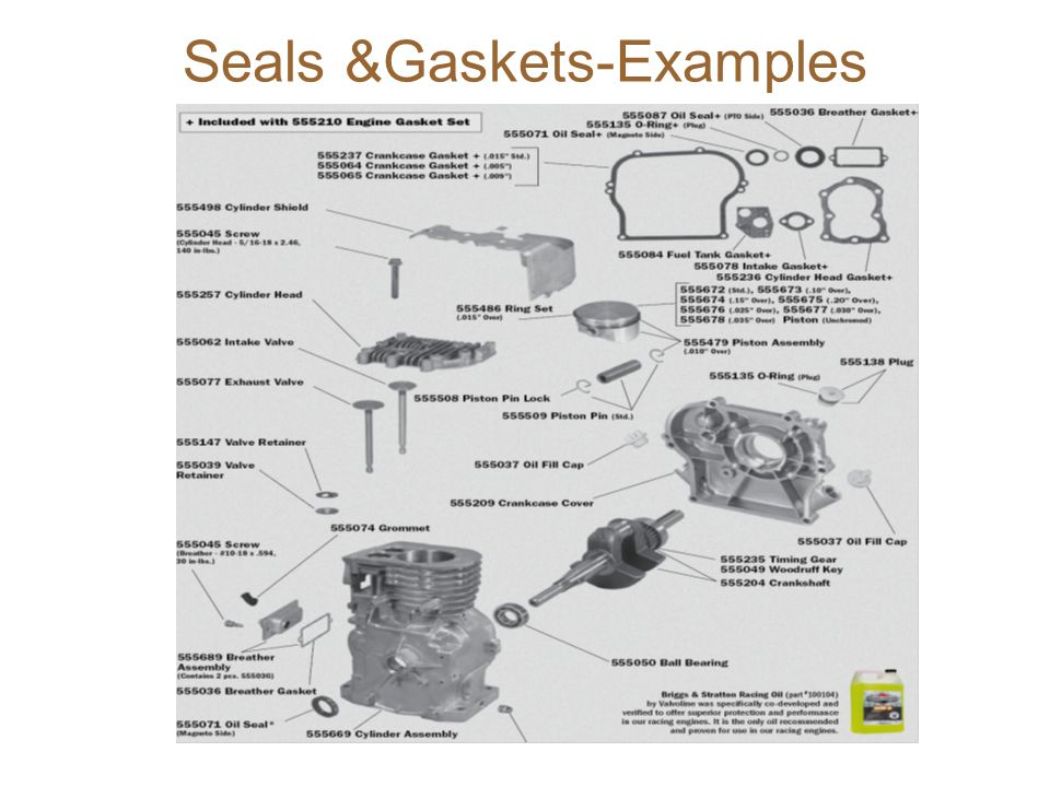 Seals &Gaskets-Examples