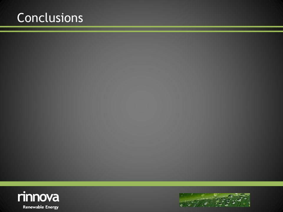 Conclusions rinnova Renewable Energy