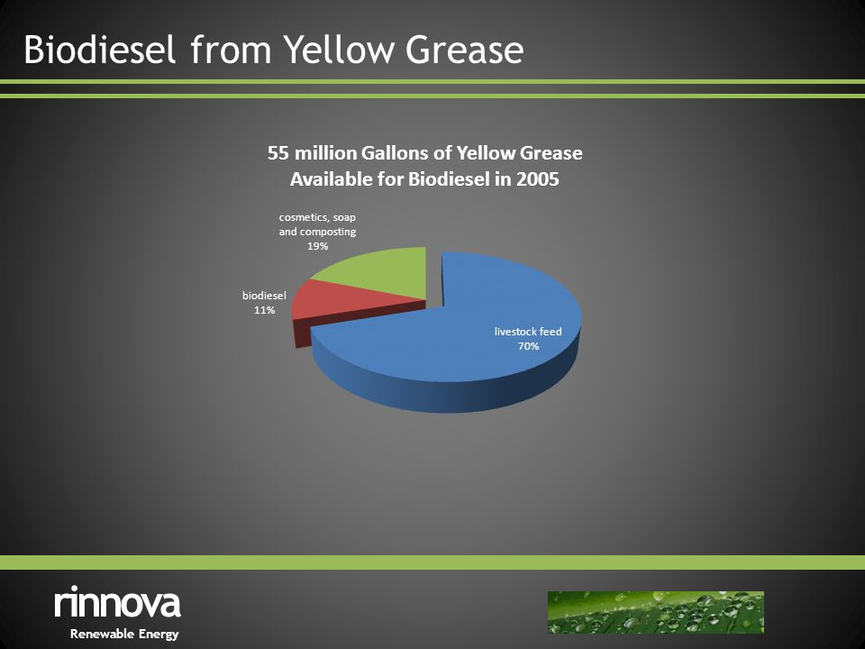 Biodiesel from Yellow Grease rinnova Renewable Energy