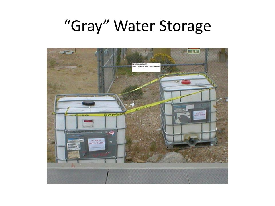 Gray Water Storage