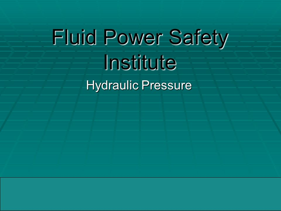 04/05/2005WMMIC Fatal Facts - Hydraulic Pressure and the Dangers  Description of the Accident:  A machine operator was fatally injured while he was attempting to bleed trapped air from a hydraulic cylinder located on an automated forming machine.