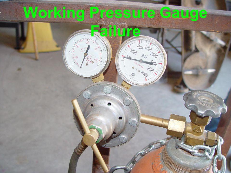 Working Pressure Gauge Failure