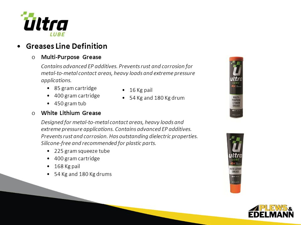 Greases Line Definition oLMX Red Grease A premium, water resistant EP grease that meets NLGI's tough GC-LB specifications.