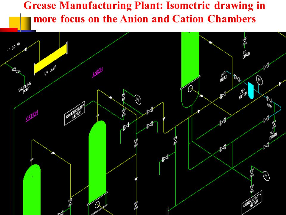 Grease Manufacturing Plant: Overview of Entire Piping Schematic Drawing in Isometric