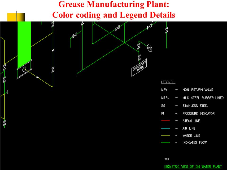 Grease Manufacturing Plant: Isometric drawing in more focus on the Anion and Cation Chambers