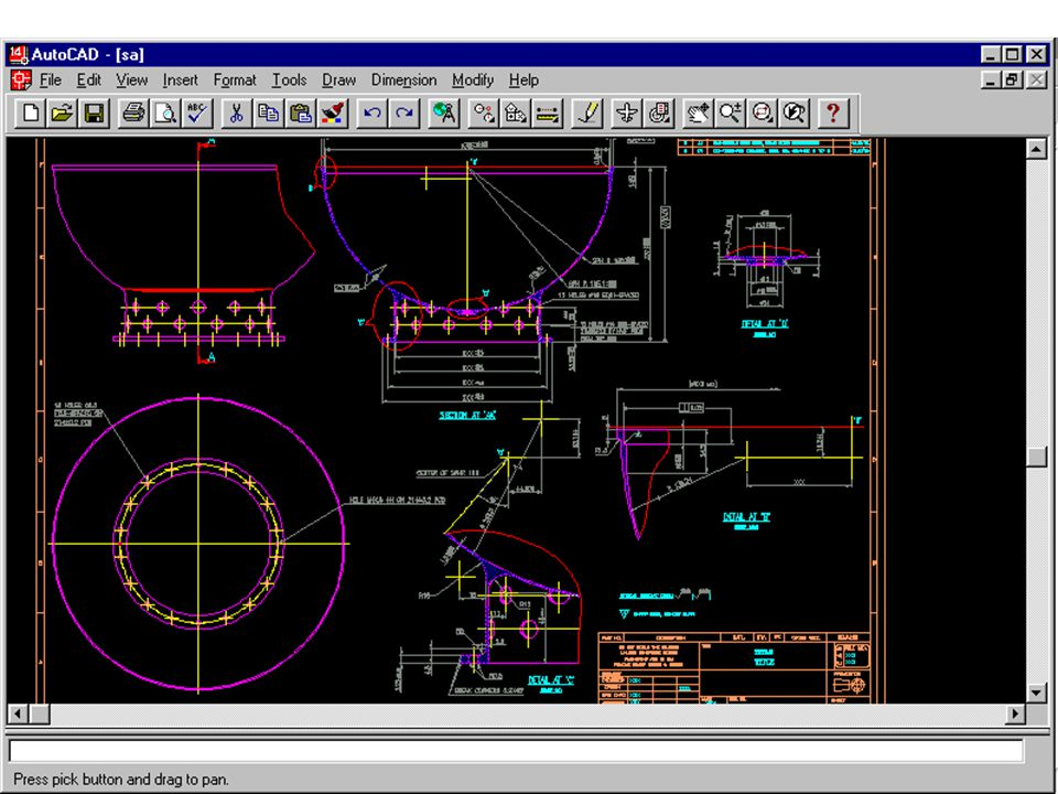 Project Description: CAD conversion of manual / mechanical drawings relating to machine components Size in Man-Months: 3 Man Months Strength of Project Team: 1 CAD Operators Input given by Client: Manual Drawing Copies Machine Component Drawings