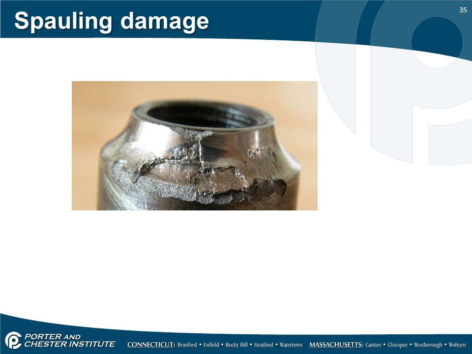 35 Spauling damage