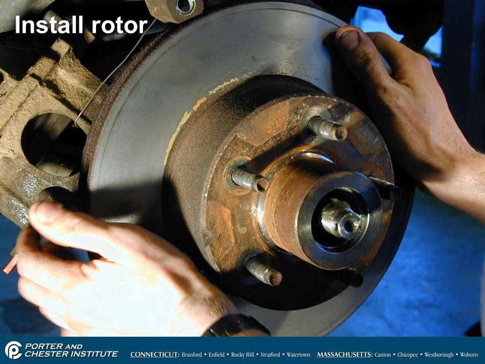 41 Install rotor